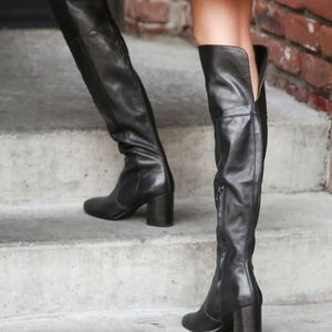 Frye Leather Clara Over the Knee Boots